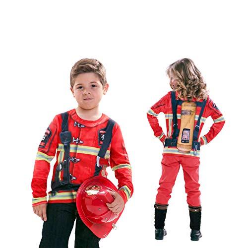 viving Kostüme viving costumes231067Herr und Frau Feuerwehrmann Lange Ärmel T-Shirt (2–4Jahre, One Size)