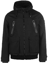 Firetrap Mens Manor Jacket Padded Coat Top Hooded Zip Winter Warm Press Stud