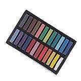 Toyvian 24 stücke 24 Farben Haar Kreide Waschbar Temporäre Haar Kreide Stifte Haarfärbemittel Kreide für Frauen Mädchen