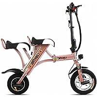 Pequeña Bicicleta Eléctrica Plegable Mini Batería Femenina Coche Generación Masculina Eléctrica Placa Doble de Litio para