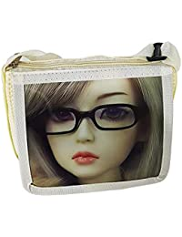 AASA Beautiful Stylish Sling Bag For Girls And Women, Cartoon Character Sling Bag For Kids, Cream, 20 Grams, Pack...
