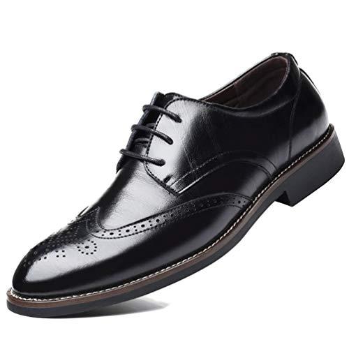 XIGUAFR Chaussure en Cuir d'affaire Commercial Basse Plate pour Homme Soulier Chaussure au Loisir Étanche Antidérapant