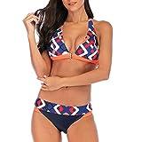 NPRADLA Damen Mädchen Plus Size Print Tankini Swimjumpsuit Badeanzug Beachwear Gepolsterte Badebekleidung
