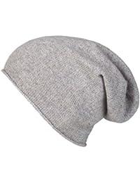 Zwillingsherz Slouch-Beanie-Mütze aus 100% Kaschmir - Hochwertige Strickmütze für Damen Mädchen Jungen - Hat - Unisex - One Size - warm und weich im Sommer Herbst und Winter