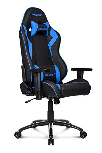 41J9it3pnTL - AKRACING silla mesa para Gaming Faux Piel Blanco
