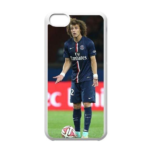 David Luiz coque iPhone 5C Housse Blanc téléphone portable couverture de cas coque EBDXJKNBO13271