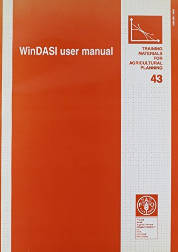 WinDASI User Manual (Training Materials for Agricultural Planning) by Food and Agriculture Organization of the United Nations (2000-12-15)