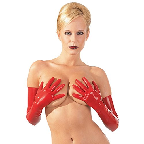 Sexy Handschuhe aus Latex S - L Rot The Latex Collection Größe Small (Sexy Latex-handschuhe)
