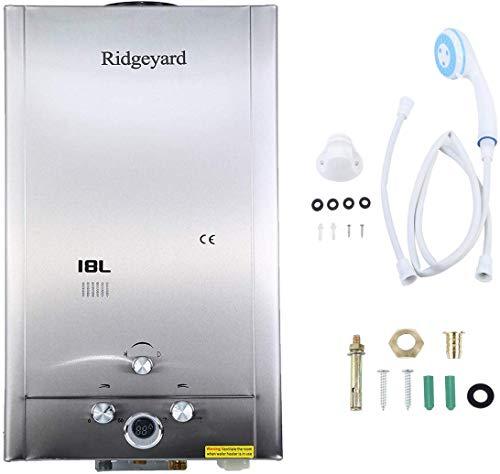 Iglobalbuy 18l lpg gas tankless caldaia istantanea di acqua calda con doccetta
