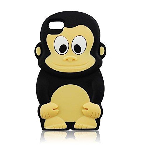 Back Case 3D Singe/Noir Étui cover Étui de protection pour Apple iPhone 64,7, Apple iPhone 6S