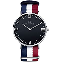 Marc Brüg Men's Minimalist Watch Ibiza 41 Black Hygge