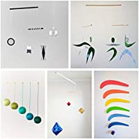 Set of 5 Montessori inspired mobiles - Black and White mobile, Green Gobbi, Dancers, Octahedron, Rainbow. Montessori mobile. Baby mobile. Hanging mobile. Crib toy