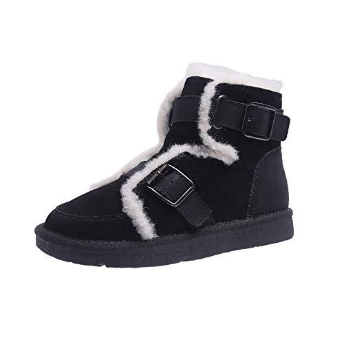 Krásny Stivali da Neve Invernali da Donna, Stivali da Donna, Stivali da Moto da Donna Esterni Antiscivolo-Nero_39