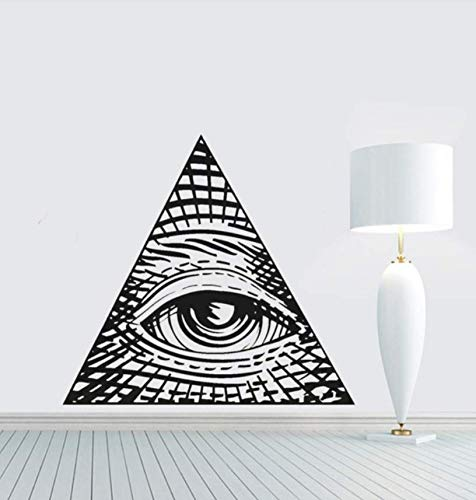 Qthxqa Eye Of Providence Vinyl Wandtattoo Wohnkultur Diy Wandbild Tapete Abnehmbare Wand Stickers56 * 61Cm