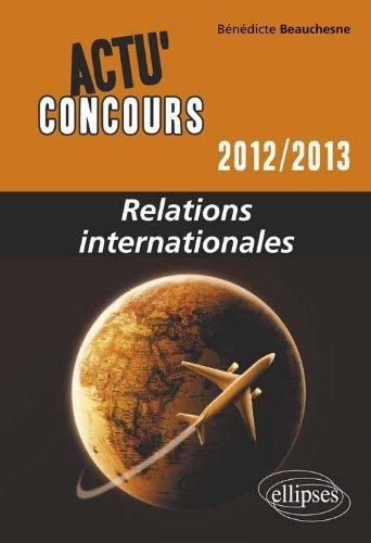 Relations internationales 2012-2013