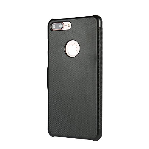 Coque iPhone 7, Coque iPhone 8, MTRONX Case Cover Etui Housse Poche Cas Couverture Ultra Slim Flip Magnetic Cuir pour Apple iPhone 7 iPhone 8 - Noir(MG-BK) Noir