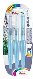 Pentel Aquash Water Brush pennello riempibile 3 pezzi punta fine/media/grande