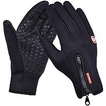 79c0bd052cf083 SWAMPLAND Anti-Rutsch Full Finger Fahrradhandschuhe Winddicht  Wasserabweisend Touchscreen Handschuhe für Damen und Herren
