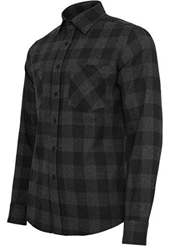 Urban Classics Herren Langarmshirt Bekleidung Checked Flanell Shirt blk/cha