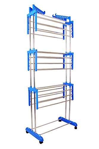 VIMART® Made in India Pure Stainless Steel Heavy Duty - Foldable 3 LEYARS Cloth Dryer Stand VIMART Product