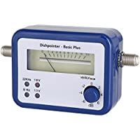 Venton Basic Plus Sat-Finder digital HD-TV Satelliten-Anlage Messgerät-Sat für Antenne Schüssel Spiegel mit LNB Receiver Satellit-Finder inkl Zubehör Komplett-Set[blau]