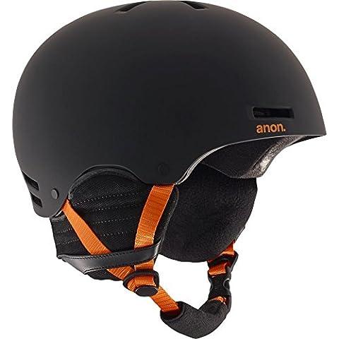 Anon Herren Raider Snowboardhelm, Black/Orange Eu, S