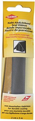 Kleiber 3 m x 2 cm Selbstklebendes, wasserdichtes, Stofffaser-Reparaturband für Zelte, Mäntel, Regenschirme usw, dunkelgrau