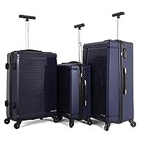 طقم حقائب سفر بعجلات بهيكل صلب من جيوردانو، 3 قطع - طراز 787122، كحلي ، للجنسين