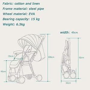 ZHAOHUIFANG Kinderwagen, Kann Sitzen Klappklappstoßdämpfer Regenschirm Zwei-Wege-super Leicht Kindertrolley