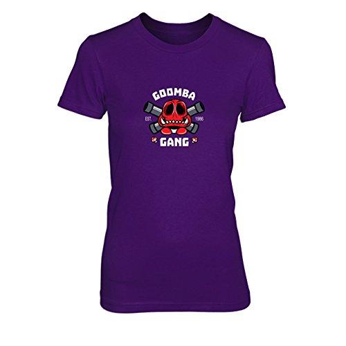 Goomba Gang - Damen T-Shirt, Größe: L, Farbe: lila
