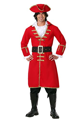 Captain Blackheart Pirate Fancy dress costume Small (Mens Captain Hook Kostüm)