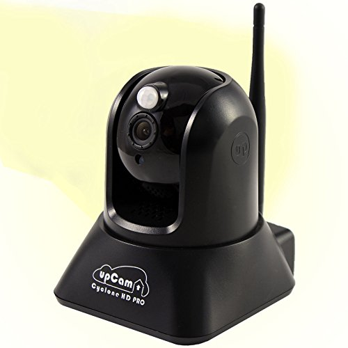 upCam Cyclone HD PRO IP Kamera mit PIR und Nachtsicht (mit SONY Exmor Full HD Sensor 1920x1080, WLAN, Audio, App, Cloud,Wärmesensor, Weitwinkel Objektiv 2 MP) - Deutscher Hersteller und Support (All In One Kamera)