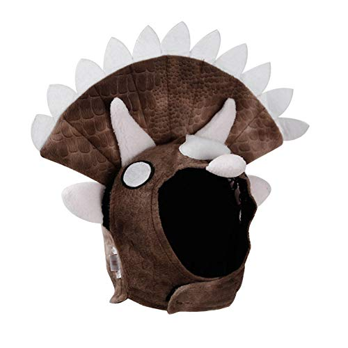 JHHXW Triceratops Dinosaur Design Dog Cap Halloween Pet Hat Cosplay Cosplay Kostüm Triceratops Hund Kostüm Dinosaurier-Hund hat