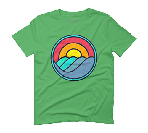 Sunrise Tides Vintage Men's Graphic T-Shirt - Design By Humans Green