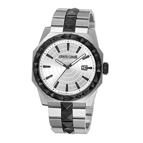 Roberto Cavalli RV1G018M0081 Reloj de Pulsera para Hombre