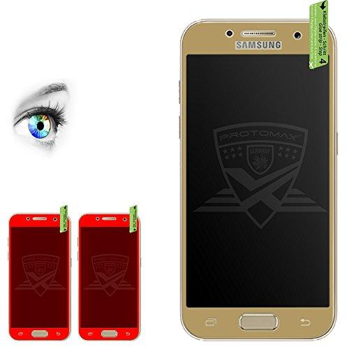 Preisvergleich Produktbild 2 x PROTOMAX 3D Schutzglas für Samsung Galaxy A5 (2017) GOLD, Vollumrandung Schutzfolie Displayschutz 0,2 mm, GOLD (2er Pack)