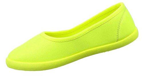Freizeitschuhe Damen Neongelb schuhe Und Farben Halbschuhe In Slipper Stilvolle Verschiedenen Größen Schuhcity24 qFvwgq7