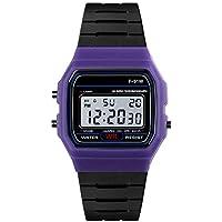 BIBOKAOKE Moda Relojes Deportes Unisex Smartwatch Silicona Correa y Pantalla LED Al Aire Libre Deportivo Reloje