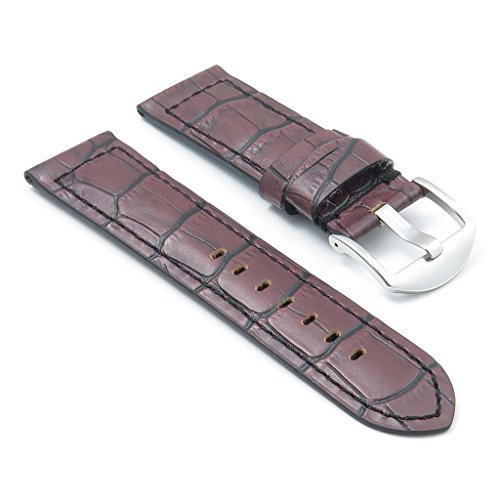 dassari-cartel-brown-crocodile-embossed-leather-watch-band-for-panerai-24-22-24mm