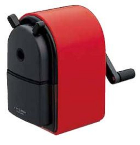 Uni KH-20 Hand Crank Wooden Pencil Sharpener - Red (japan import) - Xx Temperino