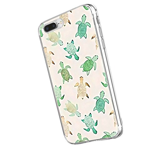 Inonler Tortue Mignon Animal Mignon Souple Transparent Coque(Coque iPhone Se, Coque iPhone 5S, Coque iPhone 5)