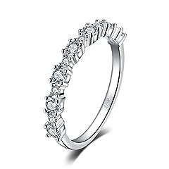 Idea Regalo - JewelryPalace 925 Sterling Argento Cubic Zirconia Fascia Anello 17