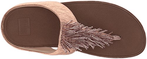 Fitflop  Cha Cha, Sandales Bout ouvert femme - argent - Silver (Nimbus Silver) Gold (Rose Gold)