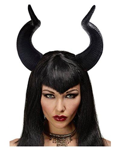 Federleichte dunkle Märchenfee Malefiz Hexen Hörner für Halloween (Realistische Dämon Kostüm)