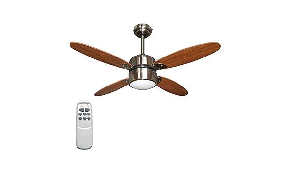 Plafoniere Con Pale : Ventilatore da soffitto zephir diam cm pale legno e