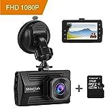 Dashcam Autokamera Shingtak Full HD 1080P Auto Dash Cam mit 3 Zoll IPS Bildschirm, 170° Weitwinkelobjektiv, G-Sensor, HDR, Loop-Aufnahme, Bewegungserkennung, Parkmonitor und Nachtsicht (Kingston 16GB SD Karte Enthalten)