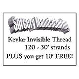 Fil invisible pro en Kevlar noir