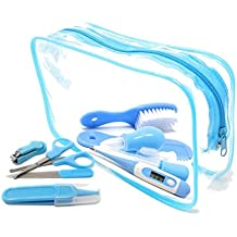 7 Piezas Esenciales de Cuidado y Aseo para Bebés - IntiPal Kit Completo de  Cuidado Infantil 7ce4bd996b9