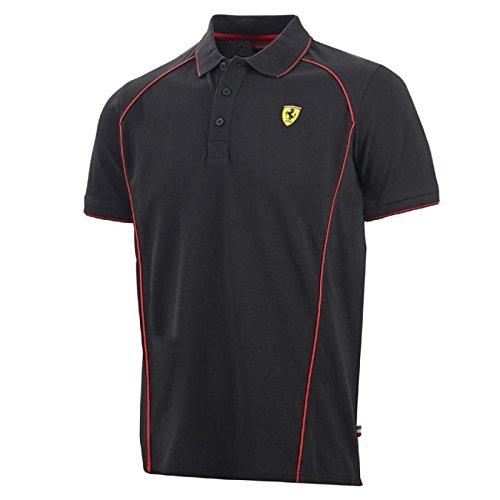 Ferrari F1Polo da uomo, Uomo, Polo, nero, XL
