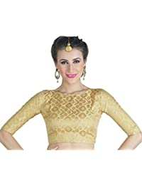 d56c52ddaa3c5 Amazon.in  Golds - Blouses   Ethnic Wear  Clothing   Accessories